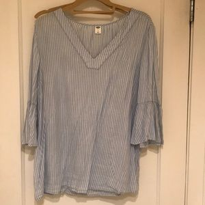 Old Navy pinstriped top size L